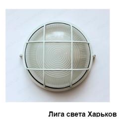Свет-к Lemanso круг метал. 60W с реш. BL-1302 белый