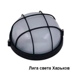 Свет-к Lemanso круг метал. 60W с реш. BL-1302 черный