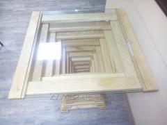 The table is oak design