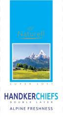 Носовые платки Naturell аромат альпийская свежесть