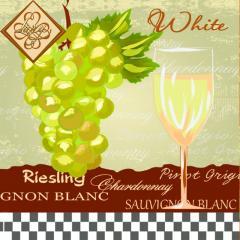 Салфетка ТМ Luxy 33х33 см, 3 слоя, 20 шт. Белое вино 4820164967829