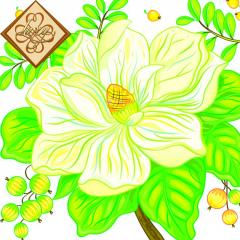 Салфетка ТМ Luxy 33х33 см, 3 слоя, 20 шт. Большой цветок 4820164963869