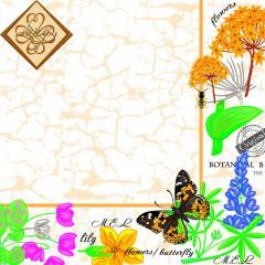 Салфетка ТМ Luxy 33х33 см, 3 слоя, 20 шт. Ботанический сад 4820164965559