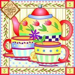 Салфетка сервировочная ТМ Luxy 33х33 см, 3 слоя, 20 шт. Чай для двоих 4820164967836