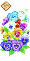 Салфетка ТМ Luxy Mini 33х33 см декор 3 слоя,10шт Анютин цветок 4820164965290