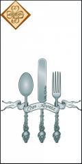Салфетка сервировочная ТМ Luxy Mini 33х33 см декор 3 слоя,10шт Приятного аппетита 4820164965238