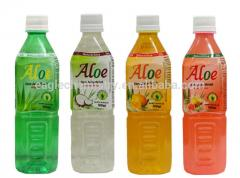 Natural Aloe Vera Soft Drink With Pulp and coca