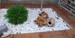 Галька белая полированно-шлифованная (Греция)