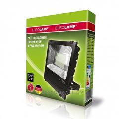 Светодиодный EUROELECTRIC LED SMD Прожектор черный