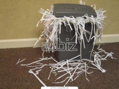 Exterminators of documents. Paper shredder