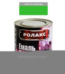 Эмаль алкидная светло-зеленая ПФ-115К 2,8кг Ролакс 1/6