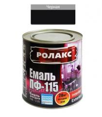 Эмаль алкидная черная ПФ-115К 0,9кг Ролакс 1/12
