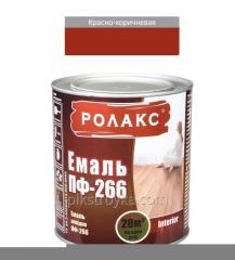 Эмаль алкидная красно-коричневая ПФ-266К 2,8кг Ролакс 1/6