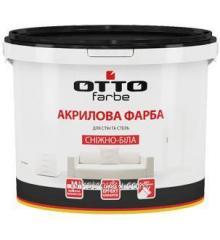 Краска акриловая снежно-белая 1.4кг Оtto farbe