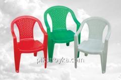 Кресло пластмассовое 560*555*805мм белое Консенсус