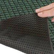 Antisplash rug for cleaning of footwear