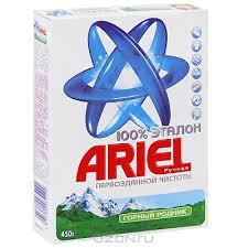 Стиральный порошок Ariel ручн. 450г Горный родник