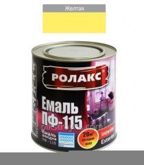 Emalia alkidowa żółta PF-115K 0,250kg Rolax 1/20