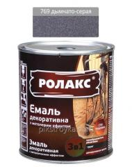 Metal dekoracyjne szkliwa chipy Miofe nr 769 dymchasto szary 0, 75 l / 940g Rolax 1/6
