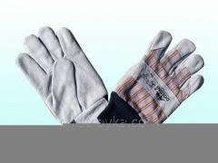 Перчатки рабочие комбинированные спилок+ткань,