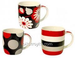 Kubek 360ml ceramiczny Czerwony i czarny S & T 1/1