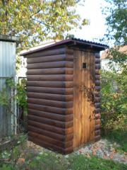 Туалет для дачи блок-хаус