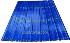 Profilowana blacha z powłoką polimerową 0,30 * 1170 * 1500mm RAL5002 niebieski Budmonster 1/10/250 1 klasa