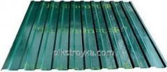 Профнастил с полимерным покрытием 0,30*1170*2000мм RAL6005 зеленый Budmonster 1/10/250 1 сорт