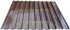 Профнастил с полимерным покрытием 0,30*1170*1500мм RAL8017 коричневый Budmonster 1/10/250 1 сорт