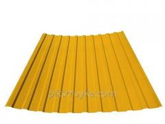 Płyty profilowane z powłoką polimerową 0,30 * 1170 * 1500mm RAL1023 żółty Budmonster 1/10/250 1 stopień