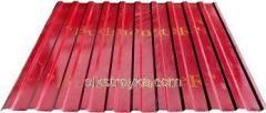 Profilowana blacha z powłoką polimerową 0,30 * 1170 * 1200mm RAL3011 czerwony Budmonster 1/10/250 1 klasa