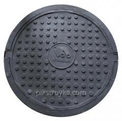 Люк 3,0т полимер. круглый для смотр. колодца Ø 740х100мм, чёрный Полимерград 1/1