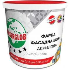 Farba akrylowa fasada Eco + 4,2kg Anserglob 1/1