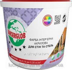 Краска акриловая интерьерная Для стен и потолков
