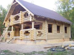 Удома із бруса, будівництво будинку з натурального