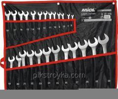 Набор ключей рожково-накидных CRV сатин 25 шт,