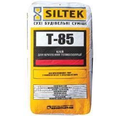 Смесь для крепления пенополистрирольной плиты и ваты T-85 25,0кг Siltek 1/54