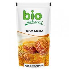 Tekuté mýdlo 500 ml Naturell Bio krém med s mlékem doy-Pack 1/20