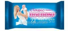 Салфетки влажные для детей Discount 72шт Календула и витамин Е