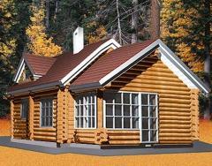Деревянные дома из оцилиндрованного и дикого бруса под заказ, строительство деревянного дома по проекту заказчика