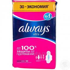 Прокладки Always ultra 30шт super 1/8