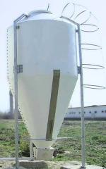 Стекловолоконный бункер для корма — 6 т, 10 куб. м