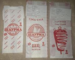 """Пакет бумажный """"Шаурма - без ГМО"""" 220х90х50..."""