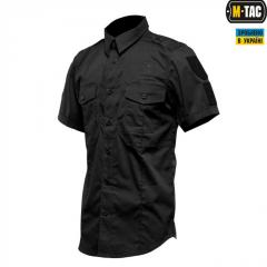 Рубашка с коротким рукавом M-Tac Flex полиция черная