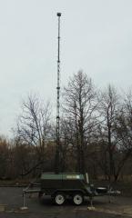 Станция видеонаблюдения передвижная прицепная СВПП-12