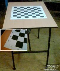 The table is chess