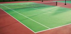 Floor coatings for tennis corts