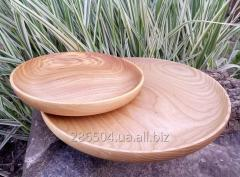 Flat dish from an ash-tree.