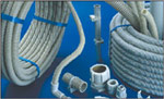 Flexible corrugated pipe electroinsulating