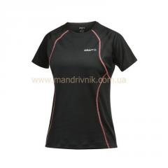 Craft Active Run 1900766 t-shirt zhfkr Tee with mesh W (9444 black/cheer, L)